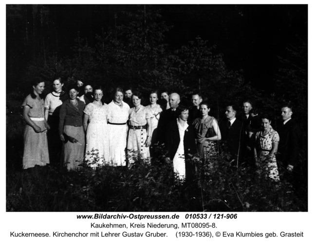 Kuckerneese. Kirchenchor mit Lehrer Gustav Gruber