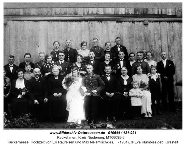 Kuckerneese. Hochzeit von Elli Raufeisen und Max Nelamischkies