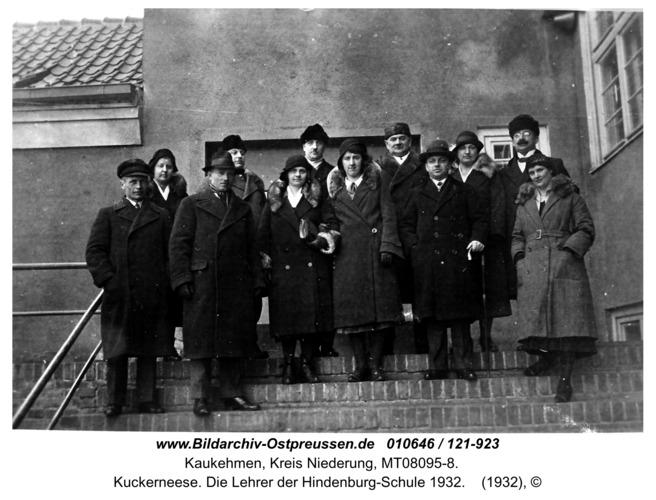 Kuckerneese. Die Lehrer der Hindenburg-Schule 1932