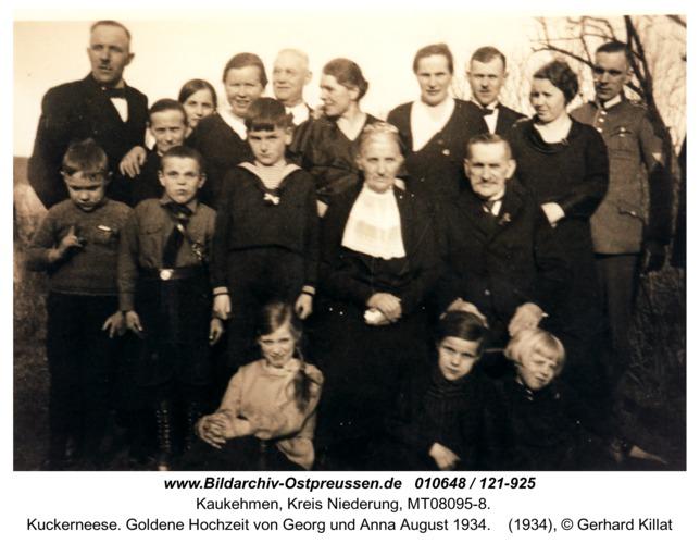 Kuckerneese. Goldene Hochzeit von Georg und Anna August 1934