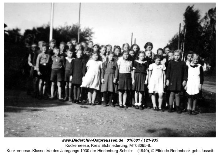 Kuckerneese. Klasse IVa des Jahrgangs 1930 der Hindenburg-Schule