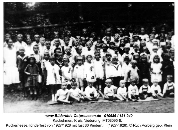 Kuckerneese. Kinderfest von 1927/1928 mit fast 80 Kindern