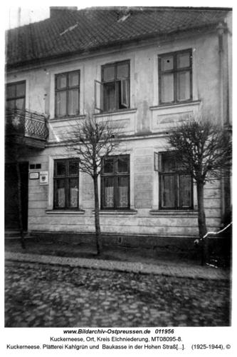 Kuckerneese. Plätterei Kahlgrün und Baukasse in der Hohen Straße 12