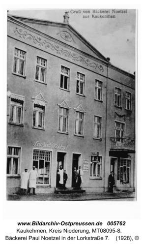 Kaukehmen,  Bäckerei Paul Noetzel in der Lorkstraße 7