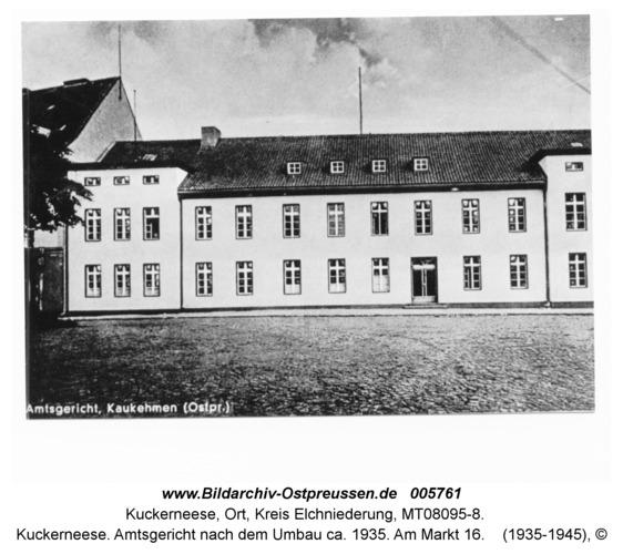 Kuckerneese. Amtsgericht nach dem Umbau ca. 1935. Am Markt 16