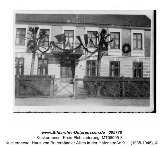 Kuckerneese. Haus von Butterhändler Allies in der Hafenstraße 9