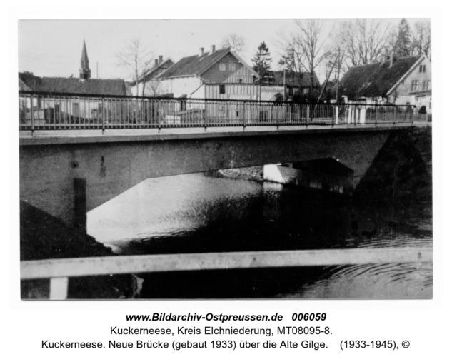 Kuckerneese. Neue Brücke (gebaut 1933) über die Alte Gilge