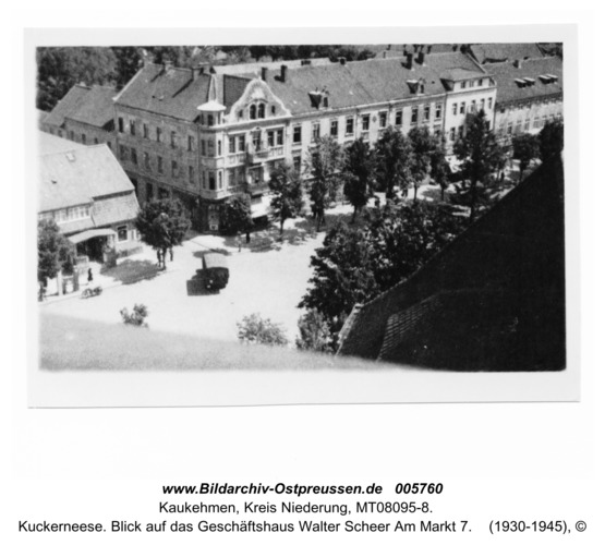Kuckerneese. Blick auf das Geschäftshaus Walter Scheer Am Markt 7