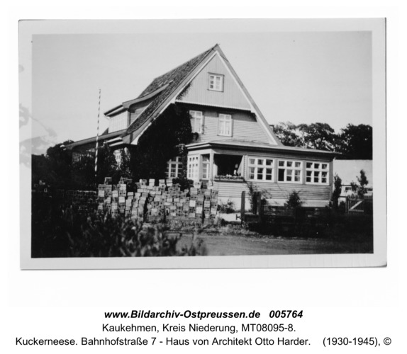 Kuckerneese. Bahnhofstraße 7 - Haus von Architekt Otto Harder