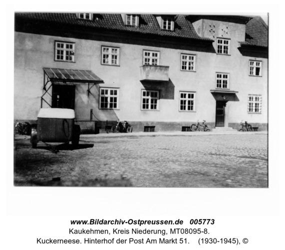 Kuckerneese. Hinterhof der Post Am Markt 51