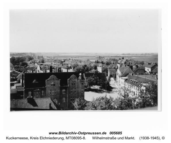 Kuckerneese. Blick vom Kirchturm nach Westen, Wilhelmstraße und Markt