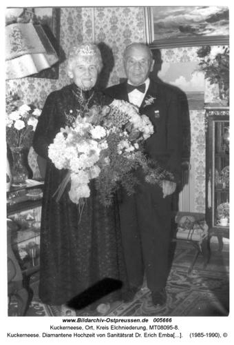 Kuckerneese. Diamantene Hochzeit von Sanitätsrat Dr. Erich Embacher und Frau Erna
