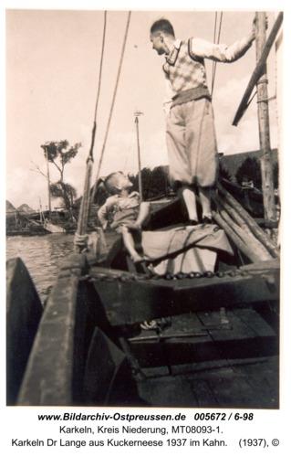 Karkeln Dr Lange aus Kuckerneese 1937 im Kahn