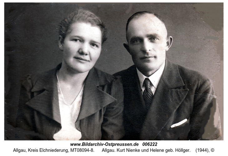 Allgau. Kurt Nienke und Helene geb. Höllger