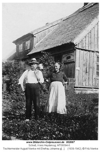 Schieß, Tischlermeister August Nienke mit Ehefrau Johanna geb. Bogaschewsky