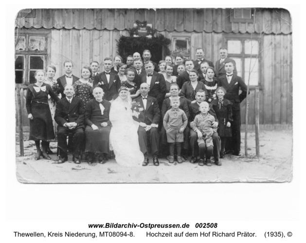Tewellen, Hochzeit auf dem Hof Richard Prätor