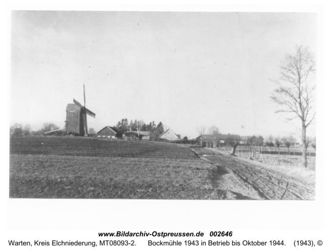 Warten (Wirballen), Bockmühle 1943 in Betrieb bis Oktober 1944