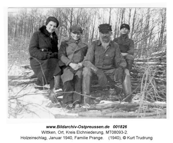 Wittken, Holzeinschlag, Januar 1940, Familie Prange