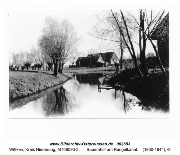 Wittken, Bauernhof am Rungelkanal
